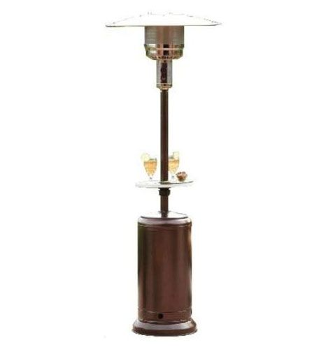 AZ Patio Heaters HLDS01 87 Inch Tall Patio Heater With Table