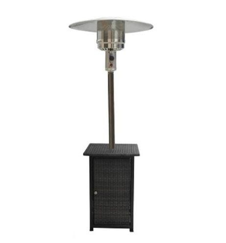 AZ Patio Heaters HLDS01-WHSQ 87 Inch Tall Square Wicker Patio Heater With Wheel