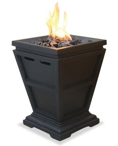 UniFlame GLT1343SP Uniflame 25 Inch Liquid Propane Gas Outdoor Small Fireplace