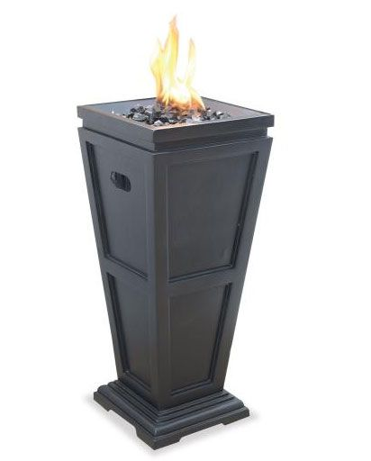 UniFlame GLT1332SP Uniflame 28 Inch Liquid Propane Gas Outdoor Medium Fireplace