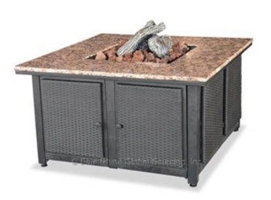 UniFlame GAD1200B 41 Inch Liquid Propane Gas Outdoor Firebowl with Granite Mantel