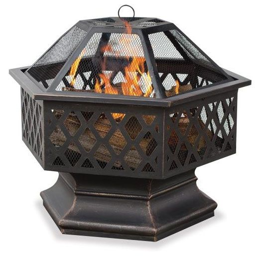 UniFlame WAD1377SP Endless Summer 24 Inch Outdoor Wood Burning Fireplace