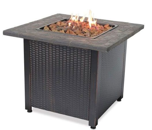 UniFlame GAD1401M Endless Summer 30 Inch Liquid Propane Gas Outdoor Fireplace