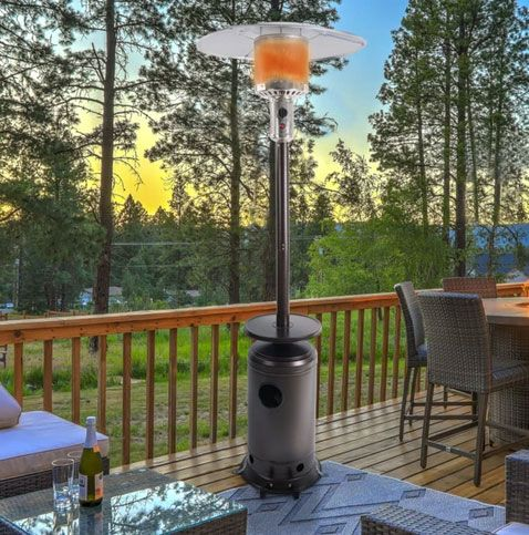 47,000 BTU Outdoor Propane Patio Heater with Wheels, Quick Start Ignition
