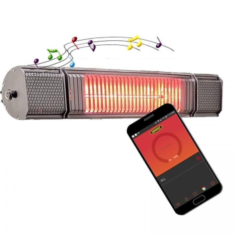 SUNHEAT and BEAT 1500W Electric Heater with Bluetooth Speaker
