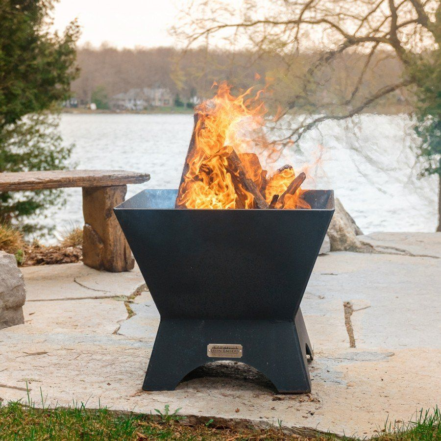 Iron Embers Modern Cube Fire Pit