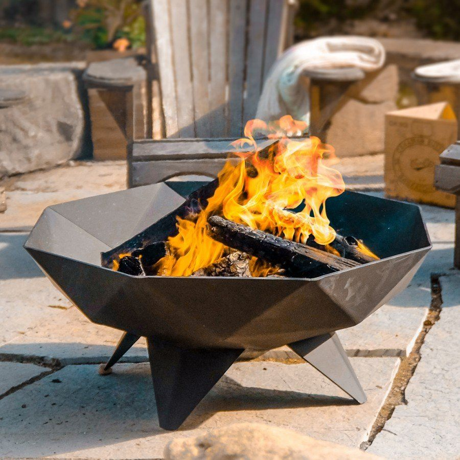 Iron Embers Polygon Fire Bowl
