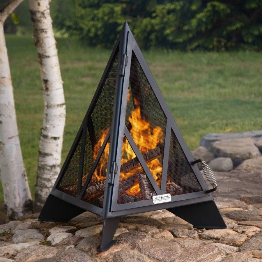 Iron Embers Pyramid Outdoor Fireplace