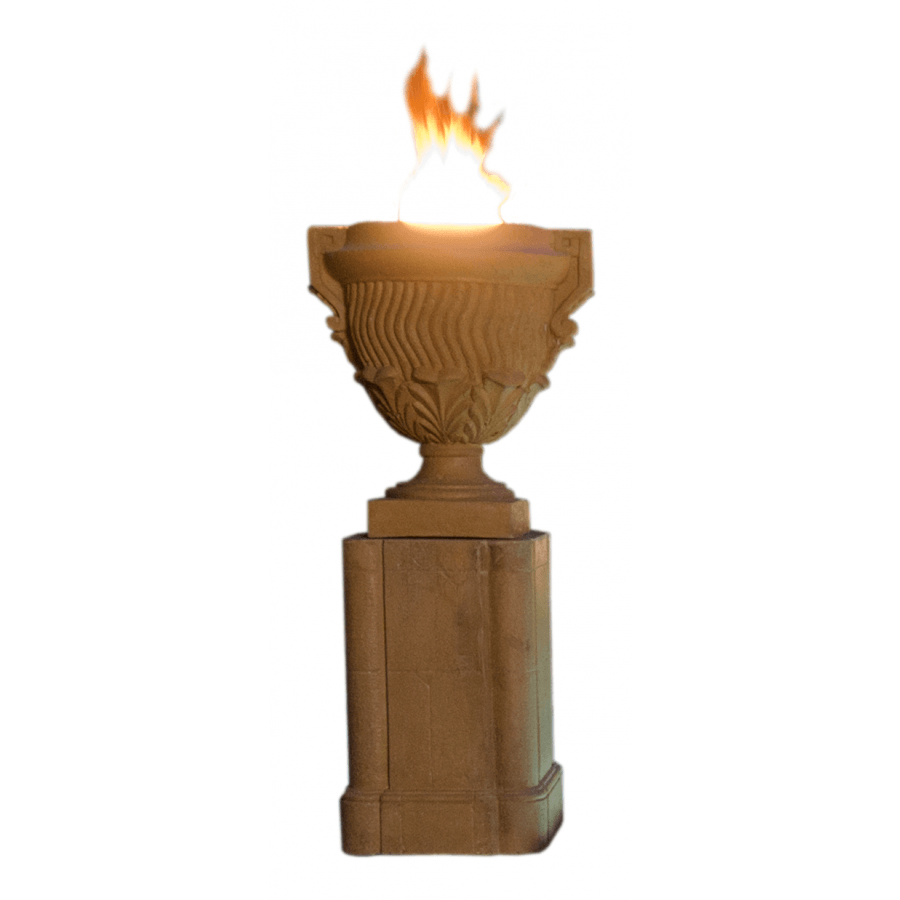 Piage Fire Urn and Pedestal