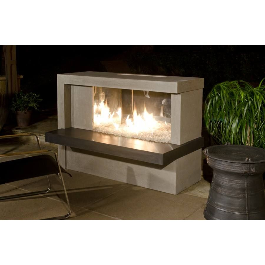 Manhattan Fireplace with Stainless Steel Firebox