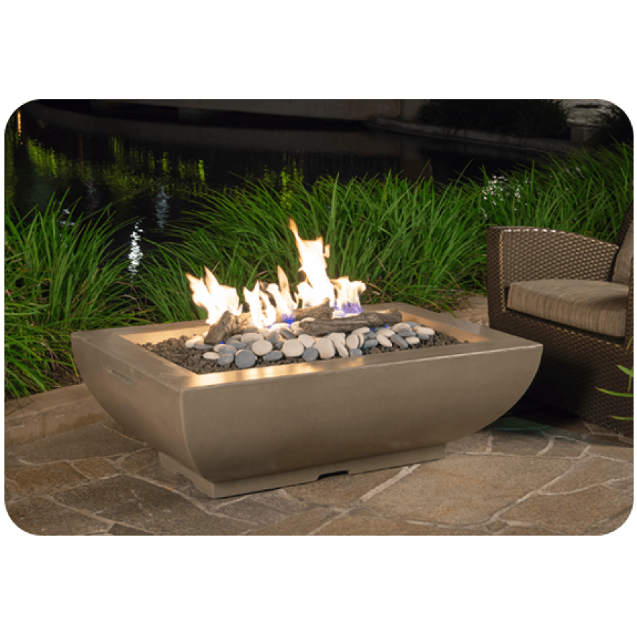 Bordeaux Fire Bowl - Textured Finish and Reclaimed Wood