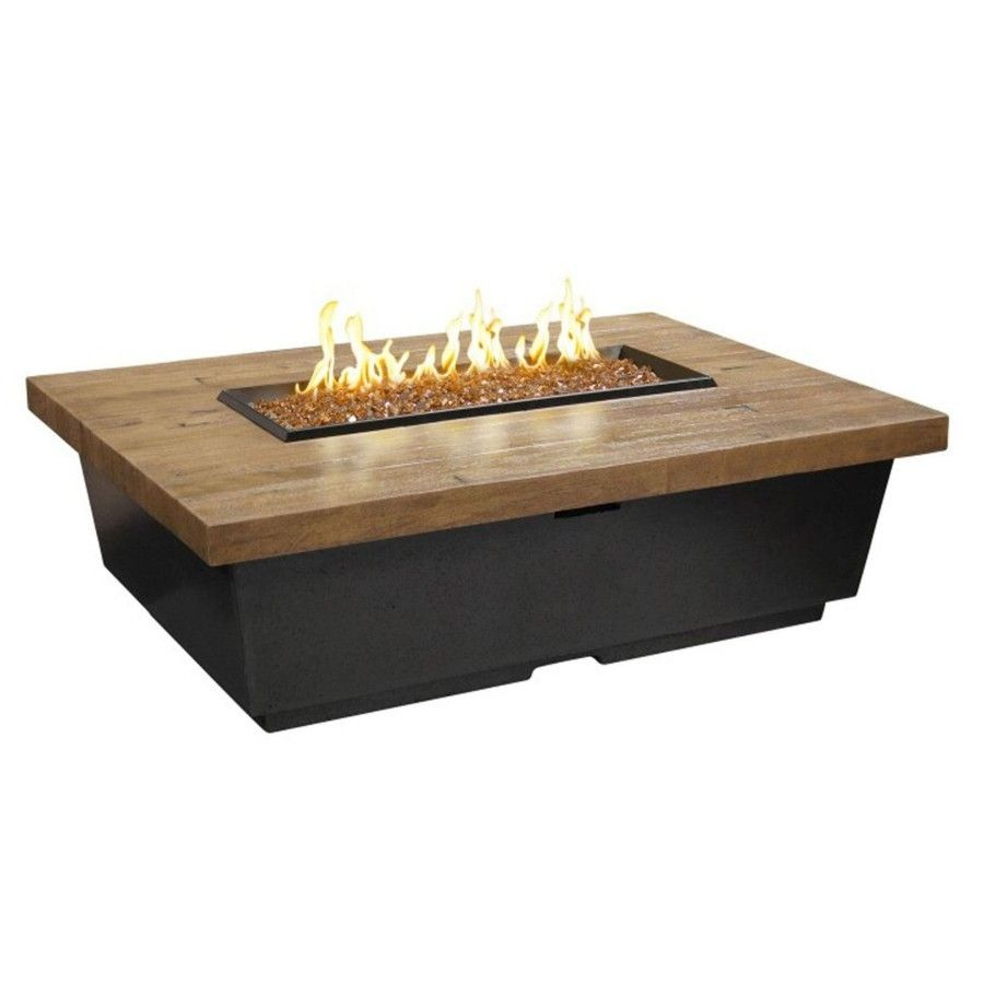 Contempo Reclaimed Wood Fire Table - LP Select w/ Drawer