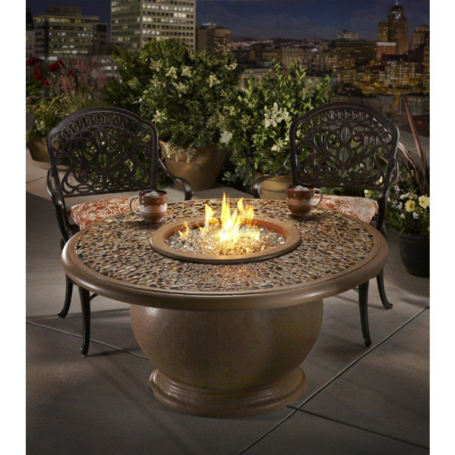 Amphora Chat Height Artisan Top Fire Pit Table