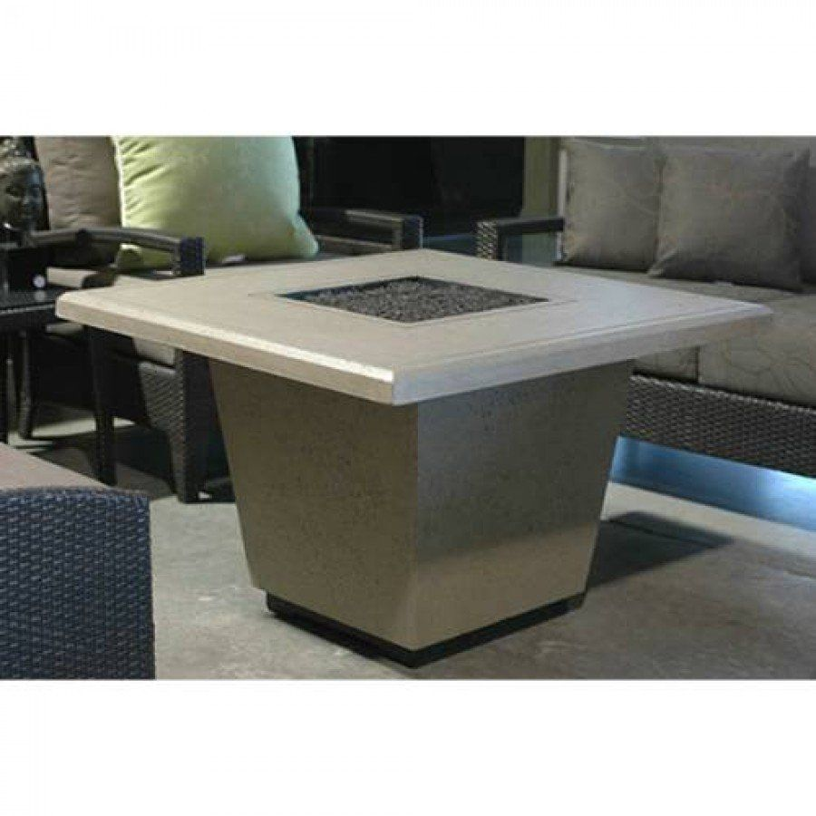 Cosmopolitan Square Fire Pit Table (Textured Finish or Reclaimed Wood)