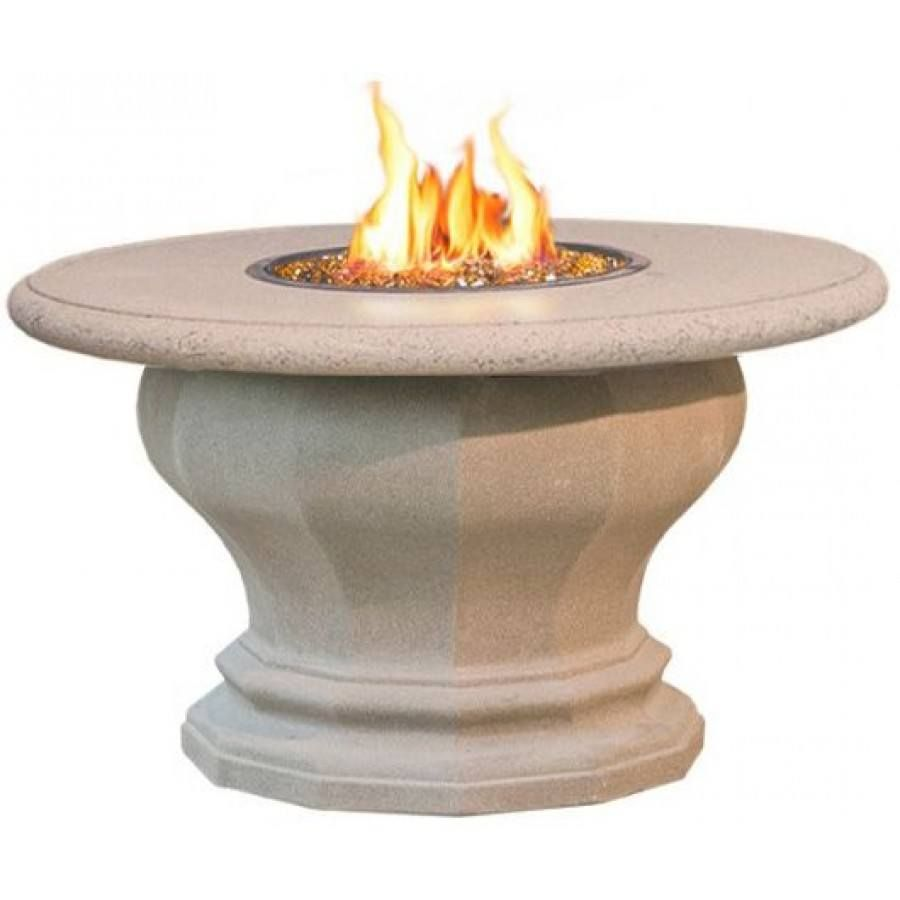 Inverted Dining Fire Pit Table with Concrete Top