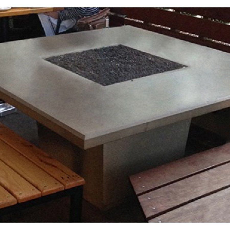 Cosmopolitan Square Dining Fire Pit Table (Textured Finish or Reclaimed Wood)