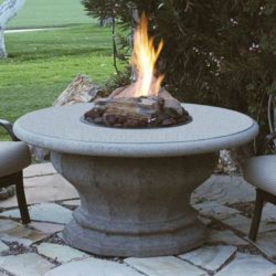 Inverted Chat Height Artisan Top Fire Pit Table