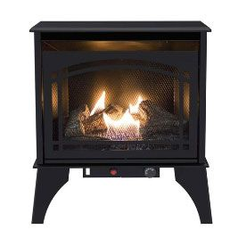 Kozy World GSD2210 Dual Fuel Gas Stove, Steel, Black