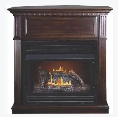 Kozy World GFD2670 Intermediate Dual Fuel Gas Fireplace, 26,000 BTU's