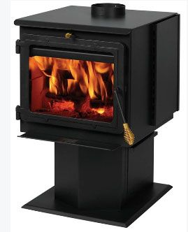 Summers Heat 50-SHSSW01 Wood Stove, 1800 sq ft, 50000 BTU/hr, Steel
