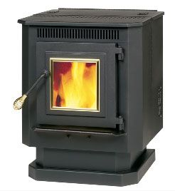 Summers Heat 55-SHP10 Wood Pellet Stove, 1,500 Sq. Ft.