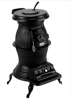 US Stove 1869 Caboose Pot Belly Cast Iron Stove, 65000 BTU