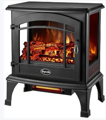 Comfort Glow EQS5140 Sanibel Quartz Electric Stove, 4,600 BTU
