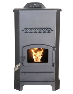 US Stove AP5501S Ashley Pellet Stove, Steel, Black, 48000 BTU