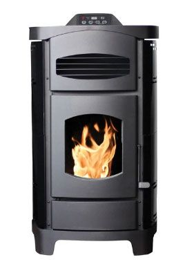 Ashley AP5780B Steel Pellet Stove, Black, 48000 BTU