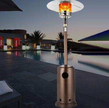 Outdoor Patio Gas Heater 4,600BTU Outdoor Heater Propane Gas Portable with Wheels